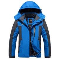 Keep Warm Winter Windbreaker Men 140kg Can Wear Loose Big Size Outdoor Coat Fleece Lining 7XL