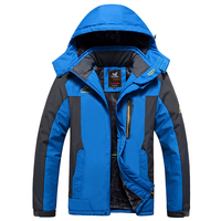 Keep Warm Winter Windbreaker Men 140kg Can Wear Loose Big Size Outdoor Coat Fleece Lining 7XL