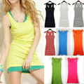 2017 New Fashion Summer Style Women tank top sexy ladies Candy Color Vest long camisole shirt female Casual Tank Tops WT044