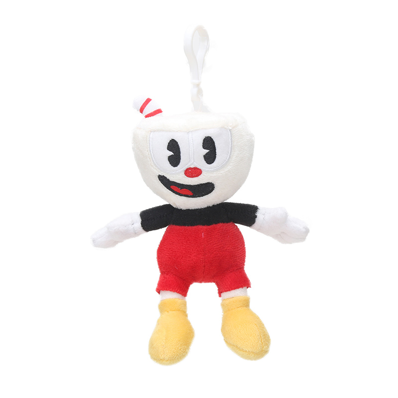 Cuphead Mugman King Dice  Boss the Devil Keychain  plush Figure toy