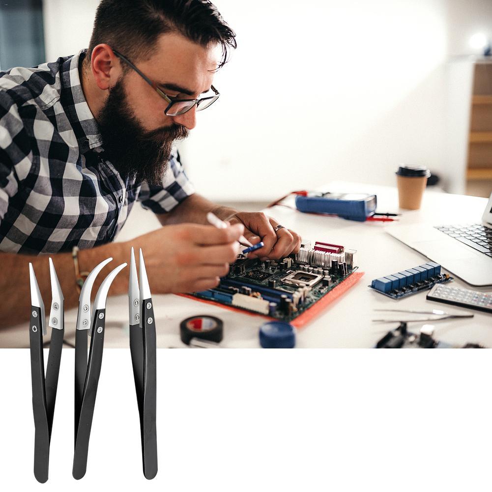 high-temperature-electronic-cigarette-tweezers-acid-alkali-corrosion-insulation-repair-clamp-tool-black-handle-ceramic-tweezers