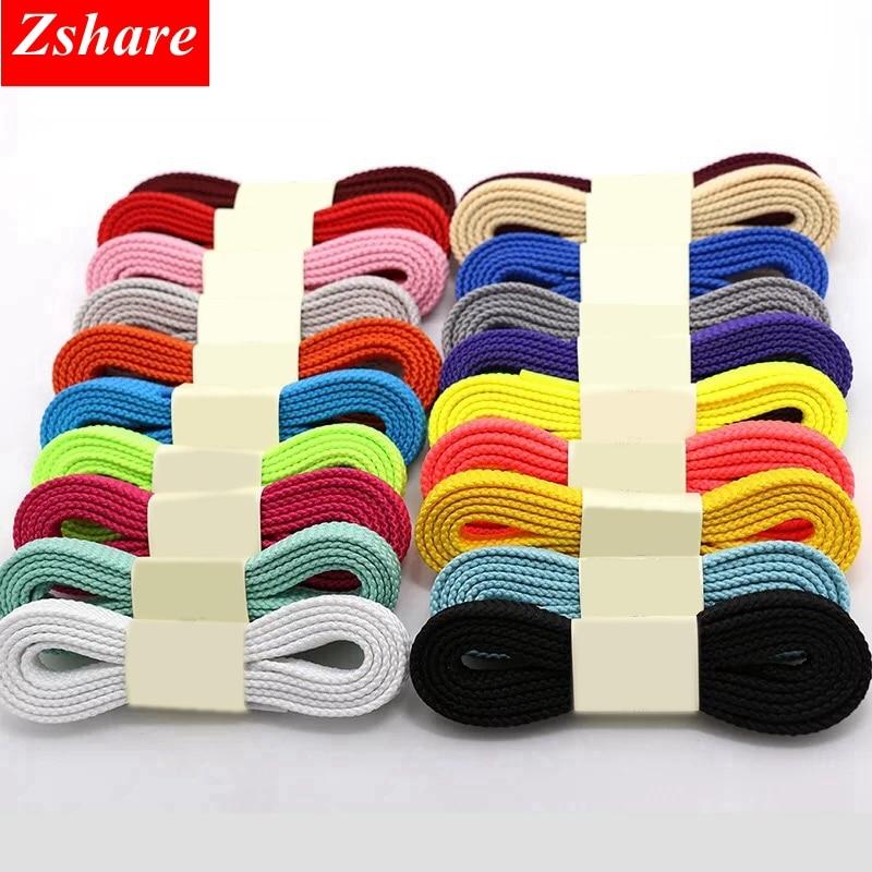 1Pair 28 Colors Classic Flat Shoelaces Quality Solid Color Sneaker Shoe Laces For All Shoes Strings 100cm 120cm 140cm 160cm