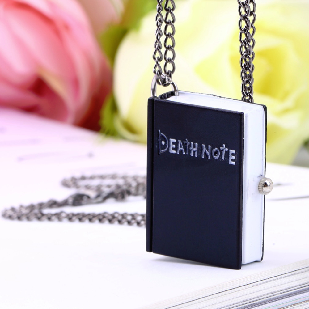 1pc Worldiwde Vintage Unique Death Note Book Quartz Pocket Watch Pendant Necklace Gift Hot Popular relogio de bolso 2017 hot sale death note notebook