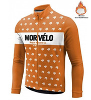 Morvelo men pro bike team Winter Thermal Fleece Cycling Jersey long sleeve keep warm Ropa maillot Bike Clothing