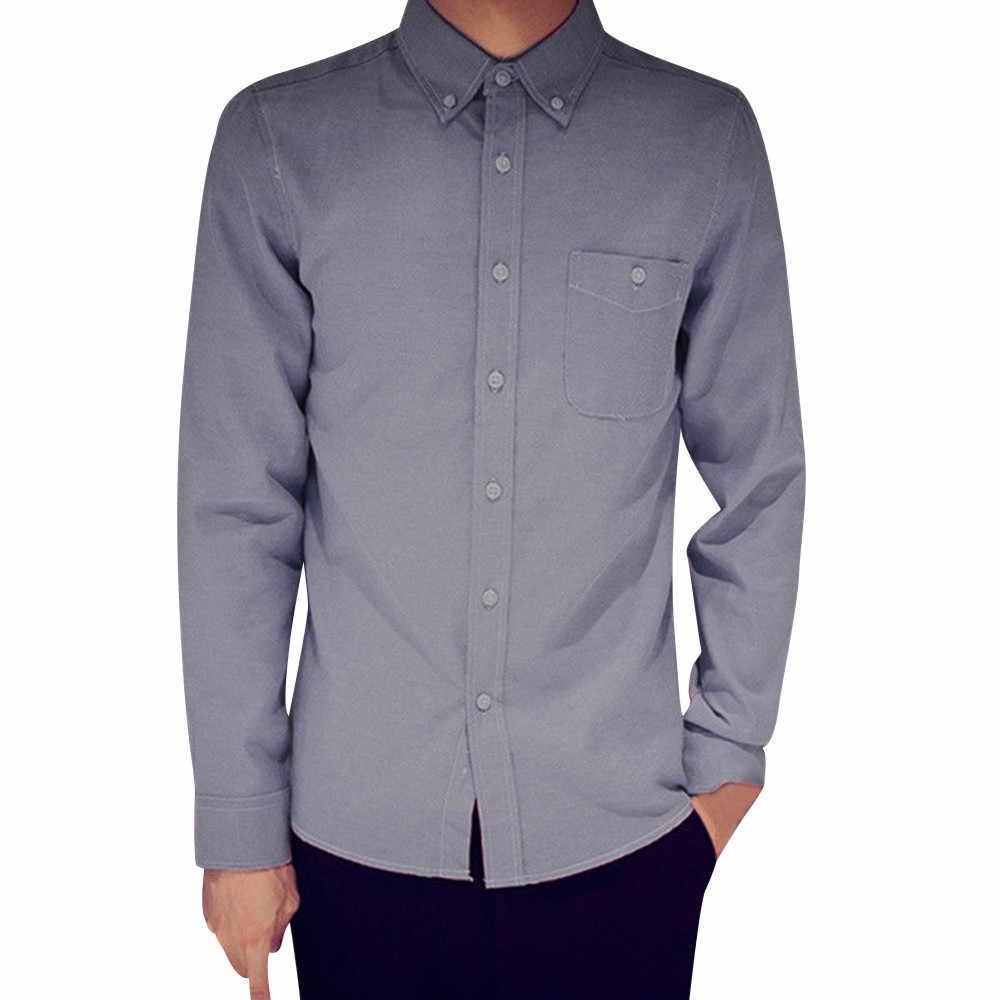 b12dfa2218449 XL 2XL 3XL 4XL Large Size Men's Business Casual Long Sleeved Shirt White  Blue Black Smart Male Social Dress Shirt Plus Jan15