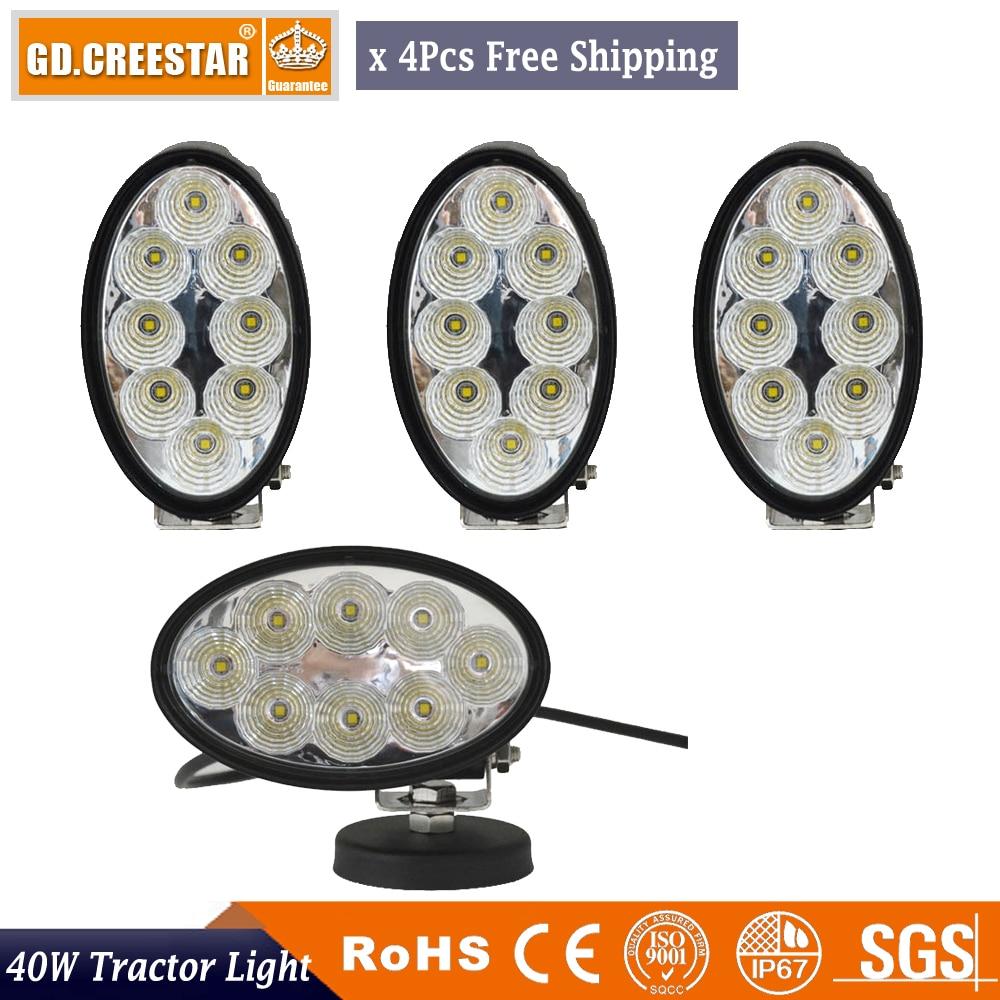 4pcs of 40W LED Work Spot Flood Light Oval Led Tractor light For JOHN DEERE MASSEY CASE IH NEW HOLLAND DEUTZ FAHR Kubota LOVOL new scv valve 294009 0260 2940090260 dcrs300260 for john deere re560091