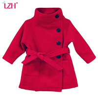 2015 Children Coat Baby Girls Winter Coats Long Sleeved With Bow Girl S Warm Baby Jacket