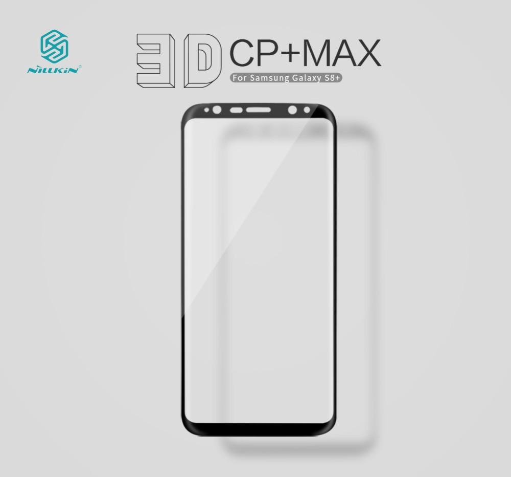 6.2 pouce nillkin pour samsung galaxy s8 plus protecteur d'écran entièrement couvert 3d 9 h mince pour samsung s8 plus verre trempé incurvé
