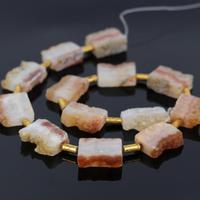Approx12PCS Strand Raw Druzy Gems Slab Pendant Beads,Yellow Crystal Quartz Geode Drusy Slice Pendant Charm,Jewelry Making