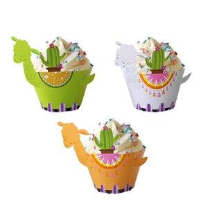 Image 4 - Envoltórios de cupcake animal floresta, coruja raposa urso cervos alpaca bolo selva festa de aniversário crianças