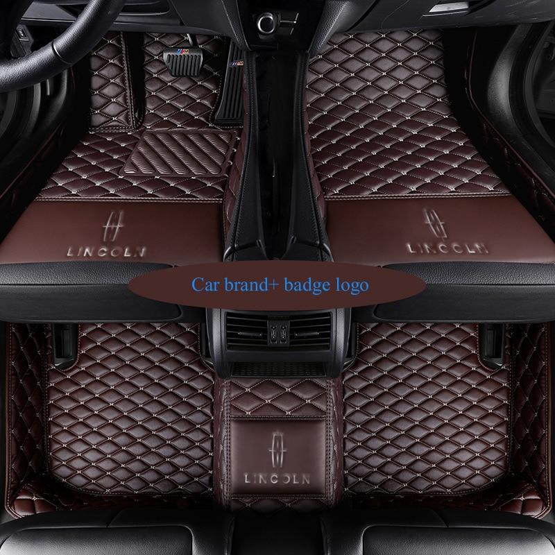Custom fit car floor mats for Renault LOGO Scenic Fluence Koleos Laguna Megane cc Talisman 3D car styling carpet floor liner кольцо chanel cc logo