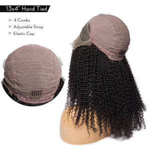 Image 3 - Парик Alibele Mogolian, кудрявый, кружево спереди, человеческие волосы, 150 плотность, 13х4, кудрявые человеческие волосы, фронтальная, длина 10 24 дюйма