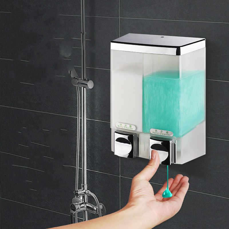 Dozownik mydła toaletowego podwójna głowica dozownik mydła w płynie ściany wiszące mycia rąk i do włosów hotelu guesthouse prysznic