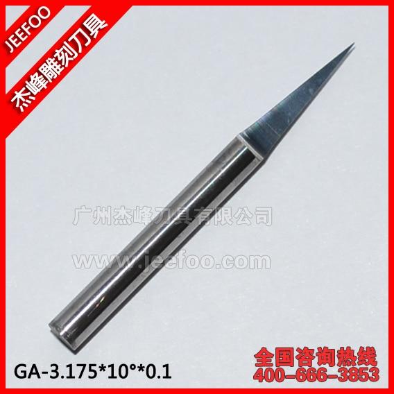 3,175 * 10 stopni * 0,1 Płaskie narzędzia do grawerowania, frez do rzeźbienia, bit frezarki CNC w kształcie litery V.