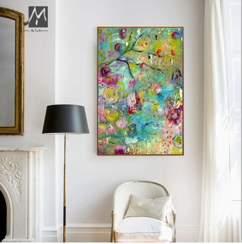 Large Modern canvas wall art decorative hand painted abstract oil painting on canvas for living room wall decor paintings