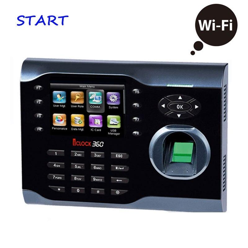 ZK ICLOCK360 WIFI Biometric Time Attendance Fingerprint Time Recording Electronic Attendance Wireless Attendance