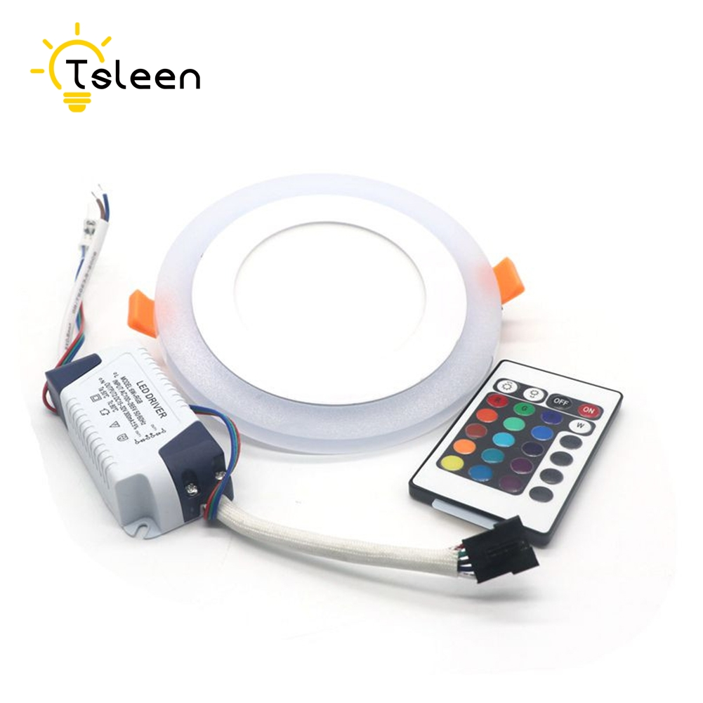 Ceiling Lights Tsleen Dimmable Ceiling Light Led Panel Led Lamp 12w Colorful Party Lamp Rgb Deco Bedroom Lighting Light Recessed High Quality And Inexpensive