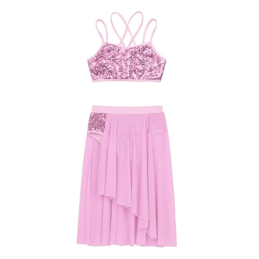 281c4b13ff549 Acheter YiZYiF Filles Sequins Ballet Dress Robe De Danse Latine ...