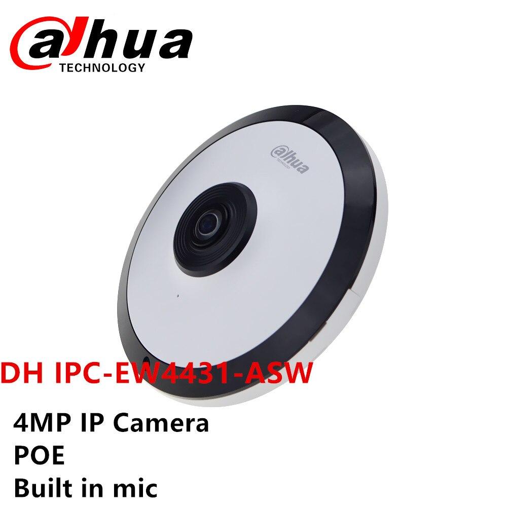 Dahua DH IPC-EW4431-ASW 4MP Panorâmica Fisheye Câmera de Rede H.265 Construído em mic slot POE Câmera de cctv de Áudio e Interface de Alarme