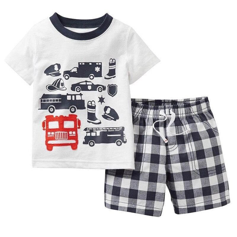Cartoon Car Boys Clothes Set 2016 Summer Kids T-shirts ...