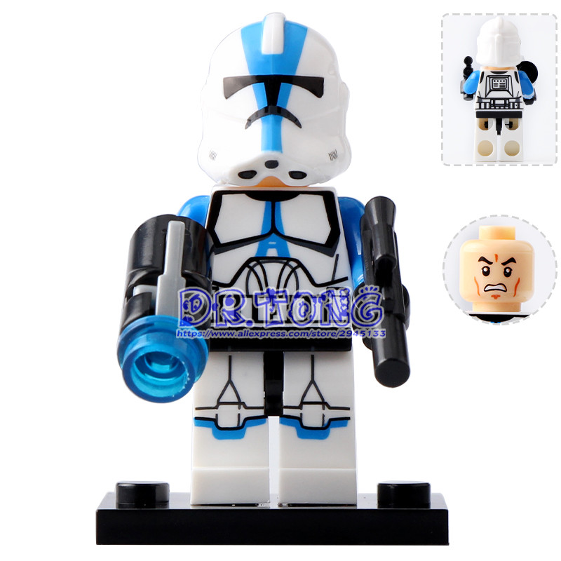 DR TONG Single Sale XH632 Clone Trooper Commander Appo Figure Building Blocks Bricks Toys Kids Gifts