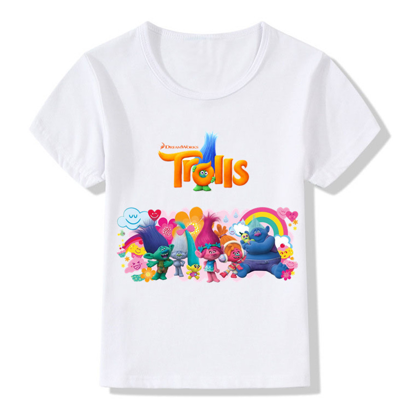 Trolls Poppy Magic Cartoon Pattern Funny Children T Shirt Kids Cute Clothes Baby Boys/Girls Summer Short Sleeve T-shirt,ooo5131