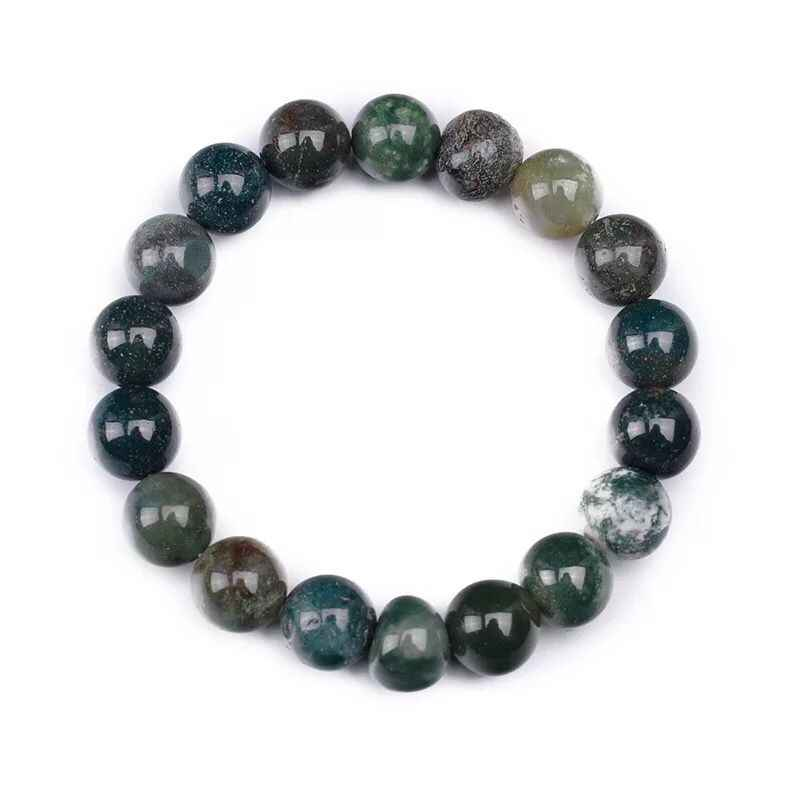 8-10 Mm Asli Amber Batu Akik Nyata Mutiara Gelang Unisex Perhiasan Batu Permata Batu Alam Fashion Beads Gelang Couple Pria wanita