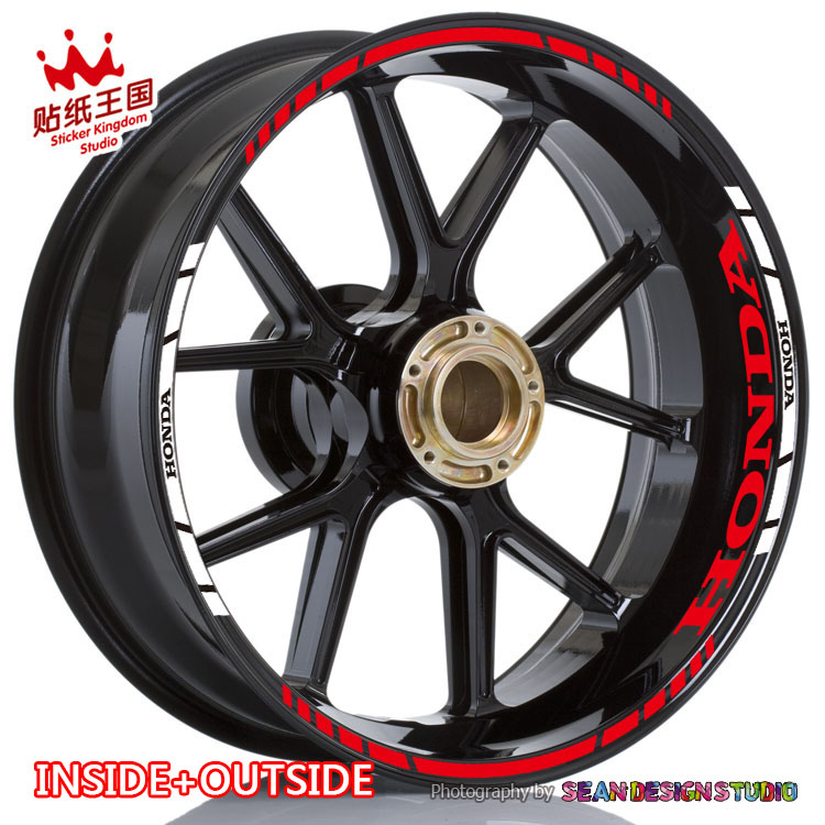For CBR600RR CBR1000RR <font><b>CBR300R</b></font> CBR500R CB1000R CB650 VFR1200 800 NC700 CB1100 Wheel <font><b>Sticker</b></font> Reflective MotorBike Rim Decal image