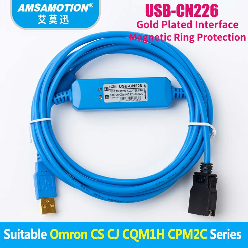 USB-CN226 Adapter For Omron CS/CJ/ CQM1H/ CPM2C Series PLC Programming Cable Support WIN7USB-CN226 Adapter For Omron CS/CJ/ CQM1H/ CPM2C Series PLC Programming Cable Support WIN7