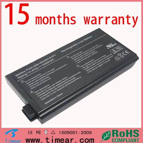 15 months warranty Replacement for Uniwill  258-4S4400-S1P1 UN258 Battery14.8V 4400mah 8 cells Laptop Battery