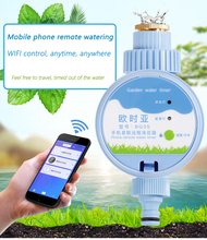 Mobile smart WIFI remote drip irrigation system garden irrigation spray automatic watering kit adjustable wifi smart watering valve intelligent drip irrigation phone remote controller diverse timing