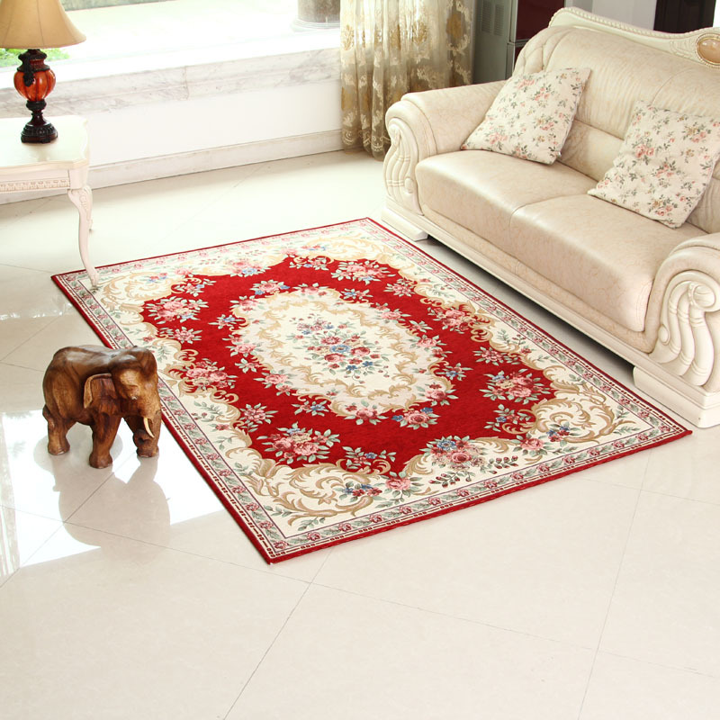 beautiful burgundy rug carpets for living room and bedroom europe area rug floral rug160x230cm