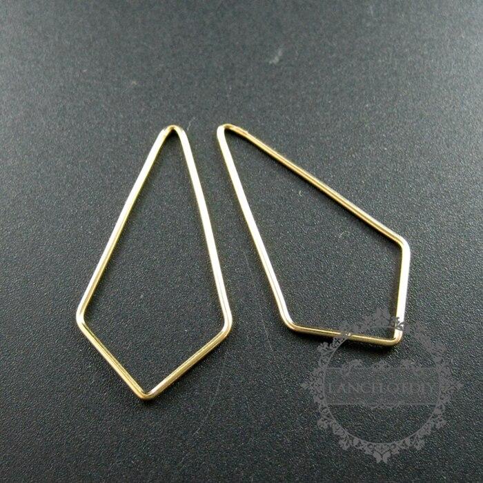 18x35mm gold gefüllt kite jump ring verdrahtung anhänger charme ...
