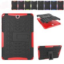 """Para Galaxy Tab 9.7 """"caso Heavy Duty Resistente Dual Layer Pata de Cabra Cubierta de La Caja Protectora Para Samsung Galaxy Tab T550 a T555 P555"""
