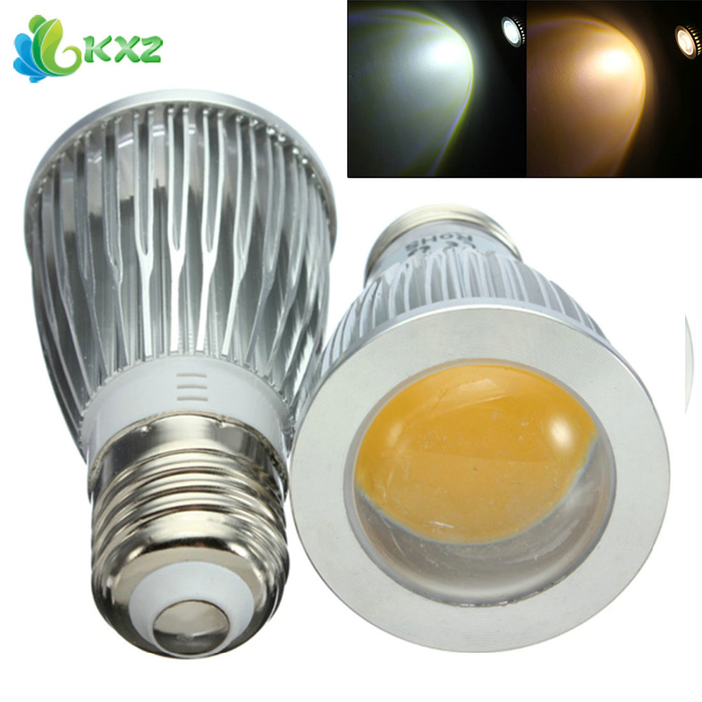 E27 7W Convex Mirror LED Bulb Lamp AC 85-265V Warm White / Cold White COB LED Spot Light Bulb for Home Lighting lexing e14 7w 540lm 14 smd 5730 led warm white light bulb ac 85 265v