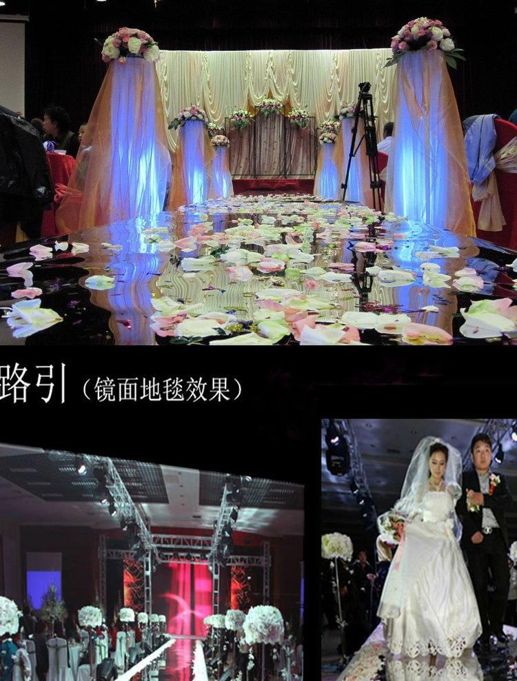 66ft1m double face silver wedding mirror carpetwedding carpet runner aisle runner wedding props