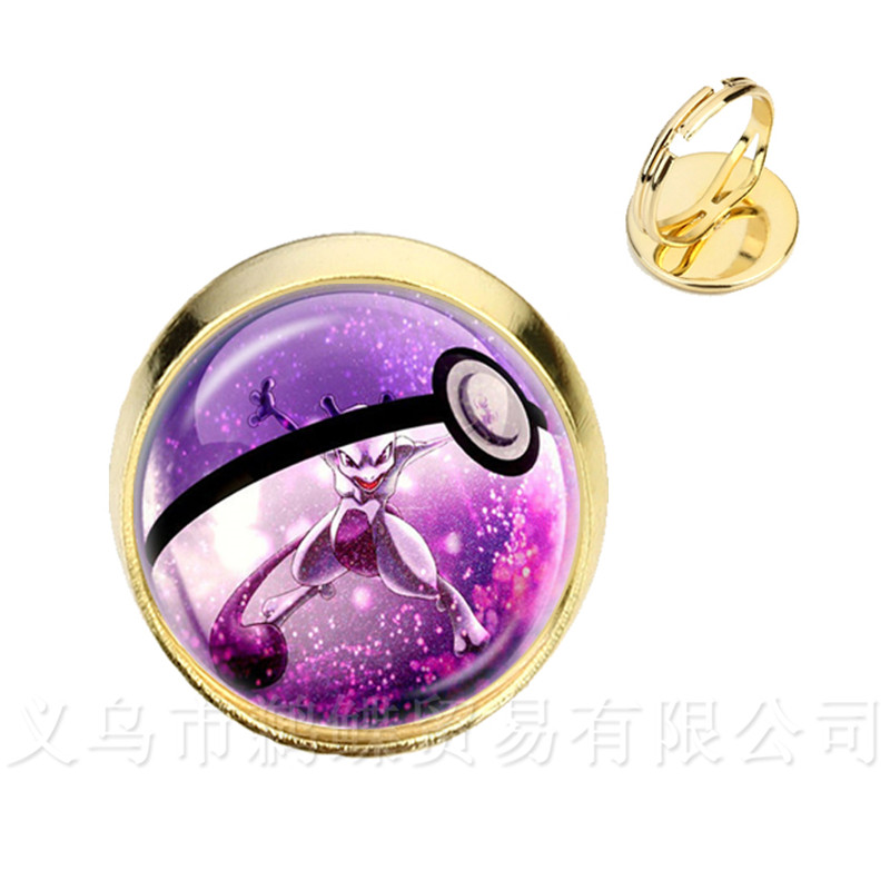 Beautiful Fashion Round Glass Cabochon Pokemon Go Pokeball Rings For Women Girls Cute Trendy Jewelry Silver/golder Plated Rings Consumers First Chain & Link Bracelets Bracelets & Bangles