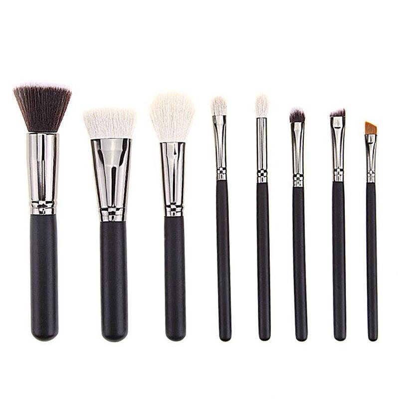 Eye Makeup Brushes Set Beauty 8Pcs Eyeshadow Blending Powder Foundation Eyebrow Goat Hair Wood Handle Cosmetic Brush