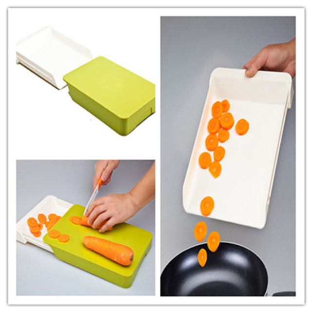 Kitchen Cutting Board Drawer Type ABS Kitchen Furnishing Articles Kitchen  Tools 2 In 1