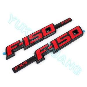 F-150 FX4 Rojo Negro guardabarros emblema ABS insignia OEM para Ford F150 2008-2014
