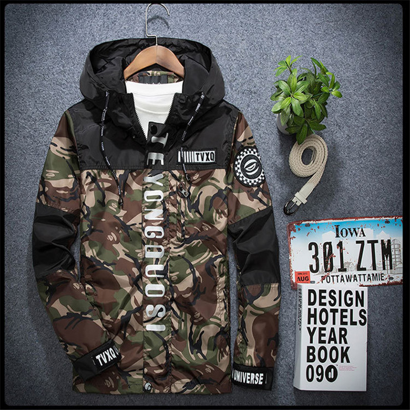 Spring Hot Selling Men's Camouflage Coat Mens Hoodies Casual 3M reflective Jacket Brand Clothing Mens Windbreaker Coats Male
