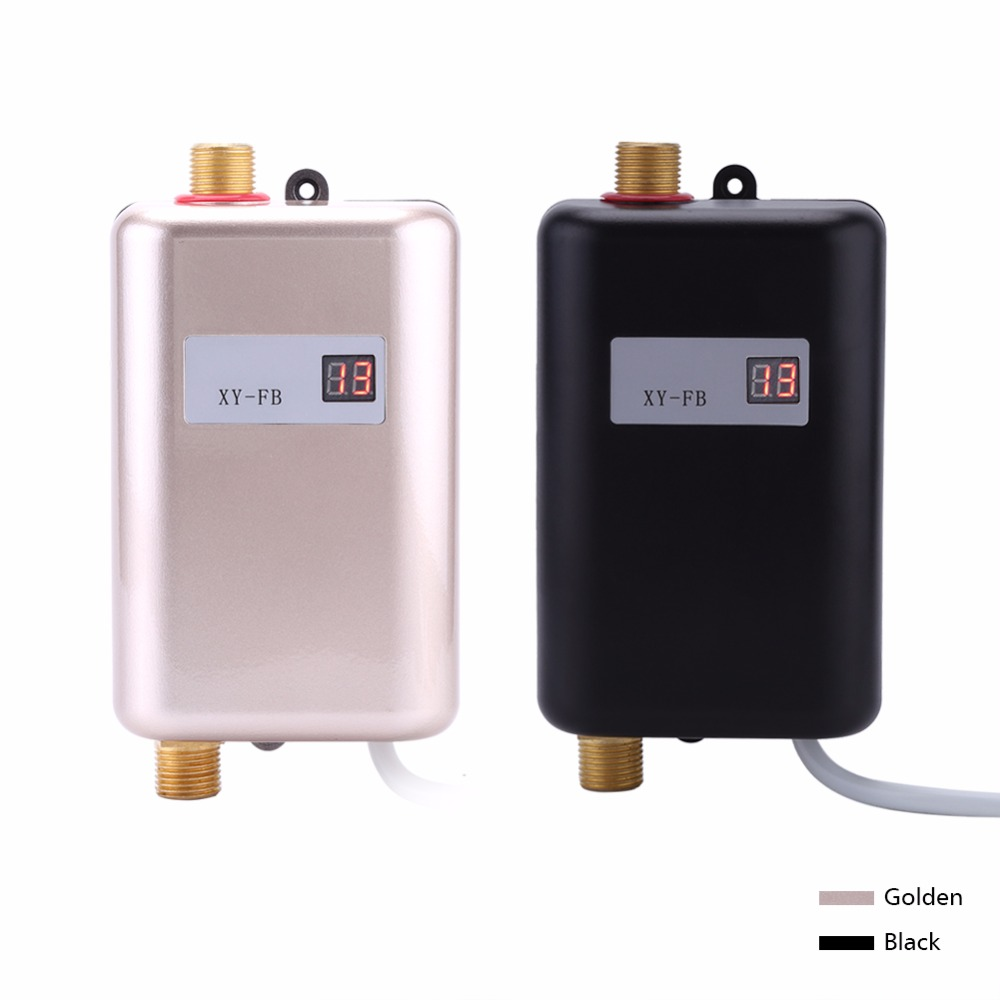 3800W Electric Water Heater Instant Mini Tankless Water Heater Instant Water Heating Shower for Kitchen Bathroom fast hot(China)