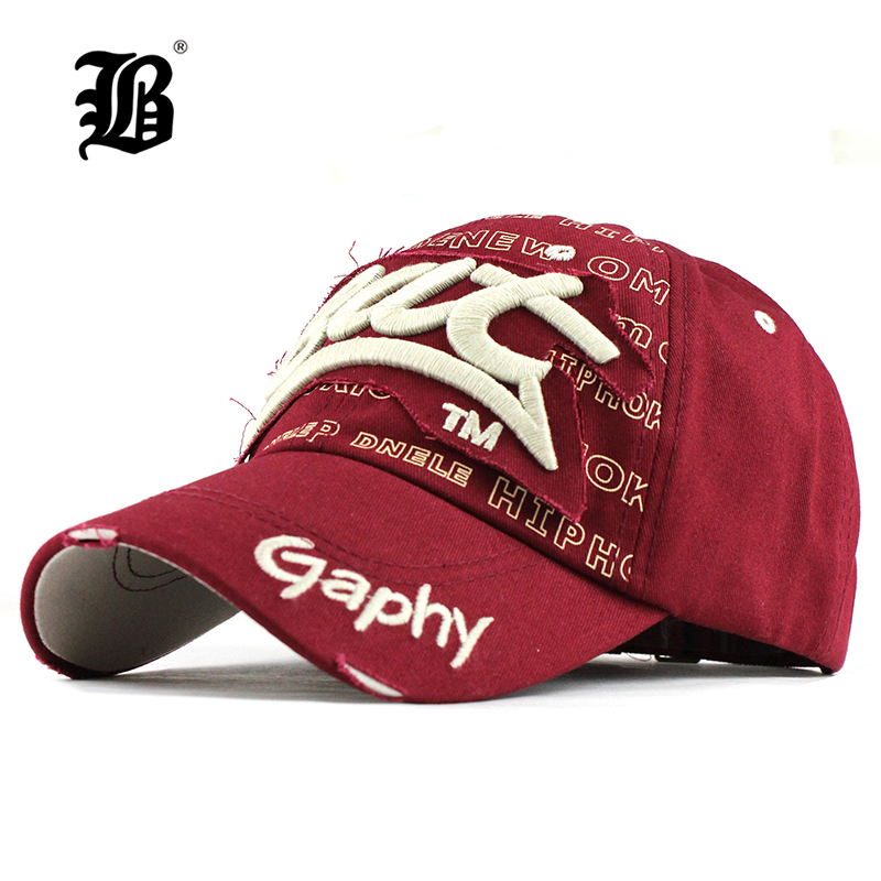 Snapback-Hats Baseball-Cap Hip-Hop-Fitted Curved-Brim FLB Women for Gorras Damage-Cap/f248