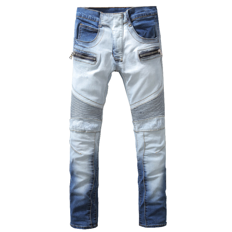 nwt bp mens stylish fashion stretch slim light blue washed biker jeans size 28 40 930epacket fast free shipping arco lighting