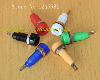 [SA]4MM banana jack power connector jack yellow- blue- red and black terminals M8 Taiwan SCI R1-22--100PCS/LOT