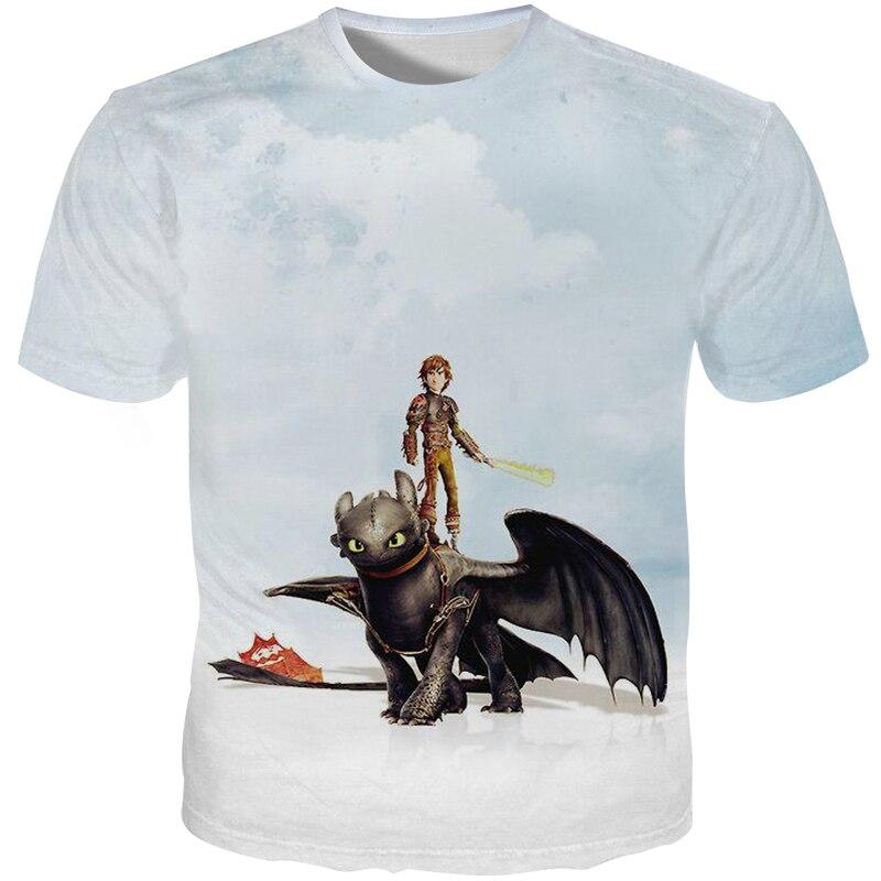 YFFUSHI 2019 New 3d T shirts Men Toothless Print T shirts Dragon Anime Cartoon Men Moive T shirts Cool Plus Szie 5XL Outwear