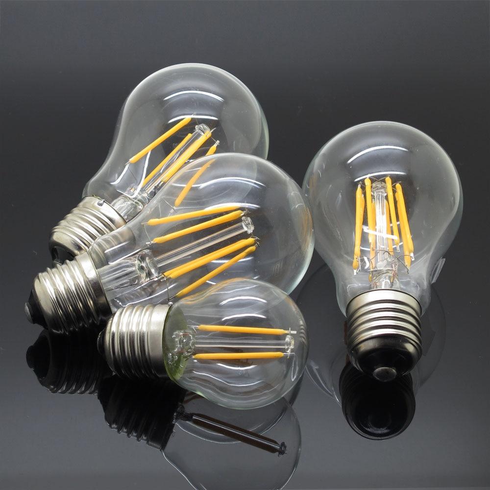 Vintage edison bulb old fashioned lamp classic a60 led 2w or 4w - E27 Filament Led Lamp 4w 8w 12w 16w Glass Bulb G45 A60 220v 230v Retro Vintage