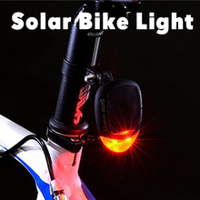 LED Safety Light  Bicycle Bike Tail Rear Taillight Flashing Torch Solar Flash