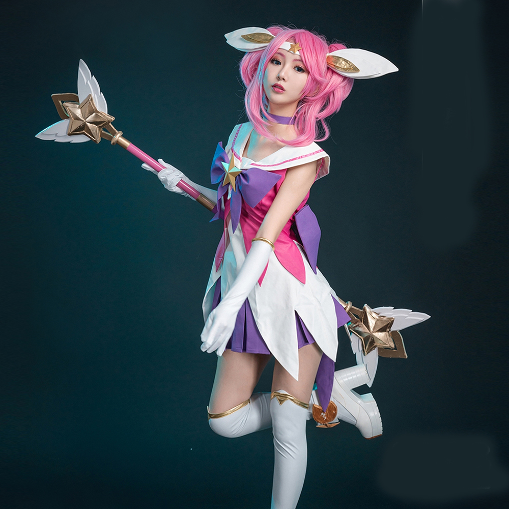 Anime cosplay lol Magic Girl Skin cos Jinx Cosplay Costume ...