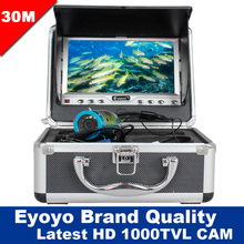 Free Shipping!Eyoyo Original 30M 1000TVL Fish Finder Underwater Fishing 7″ Video Camera Monitor Anti-Sunshine Shielf W/ Sunvisor